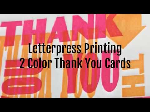 Printing 2 Color Letterpress Cards on an Etching Press
