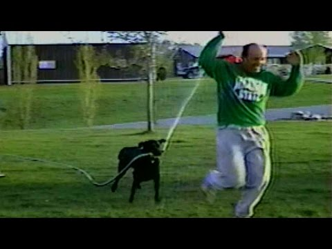 Dog Steals Hose and Sprays Owner