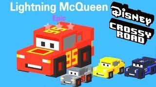 Disney Crossy Road Lightning McQueen All Cars Unlocked ( 30 New Cars Figurines)