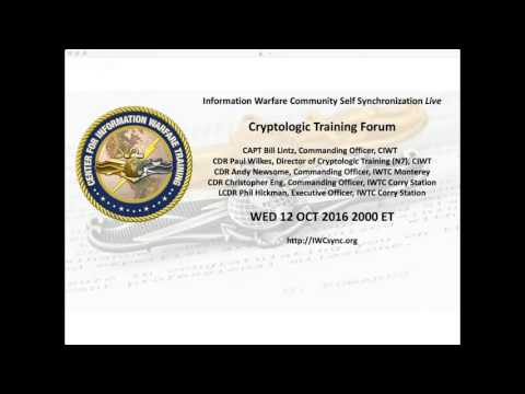 IWCsync Live: Cryptologic Training Forum