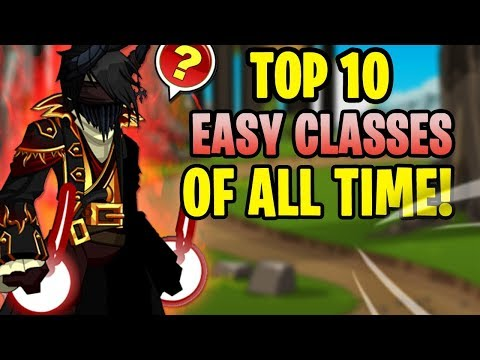 AQW - TOP 10 EASY CLASSES In AQW & HOW To Get Them! (Non-Member) (Non-Rare) + GAMEPLAY!