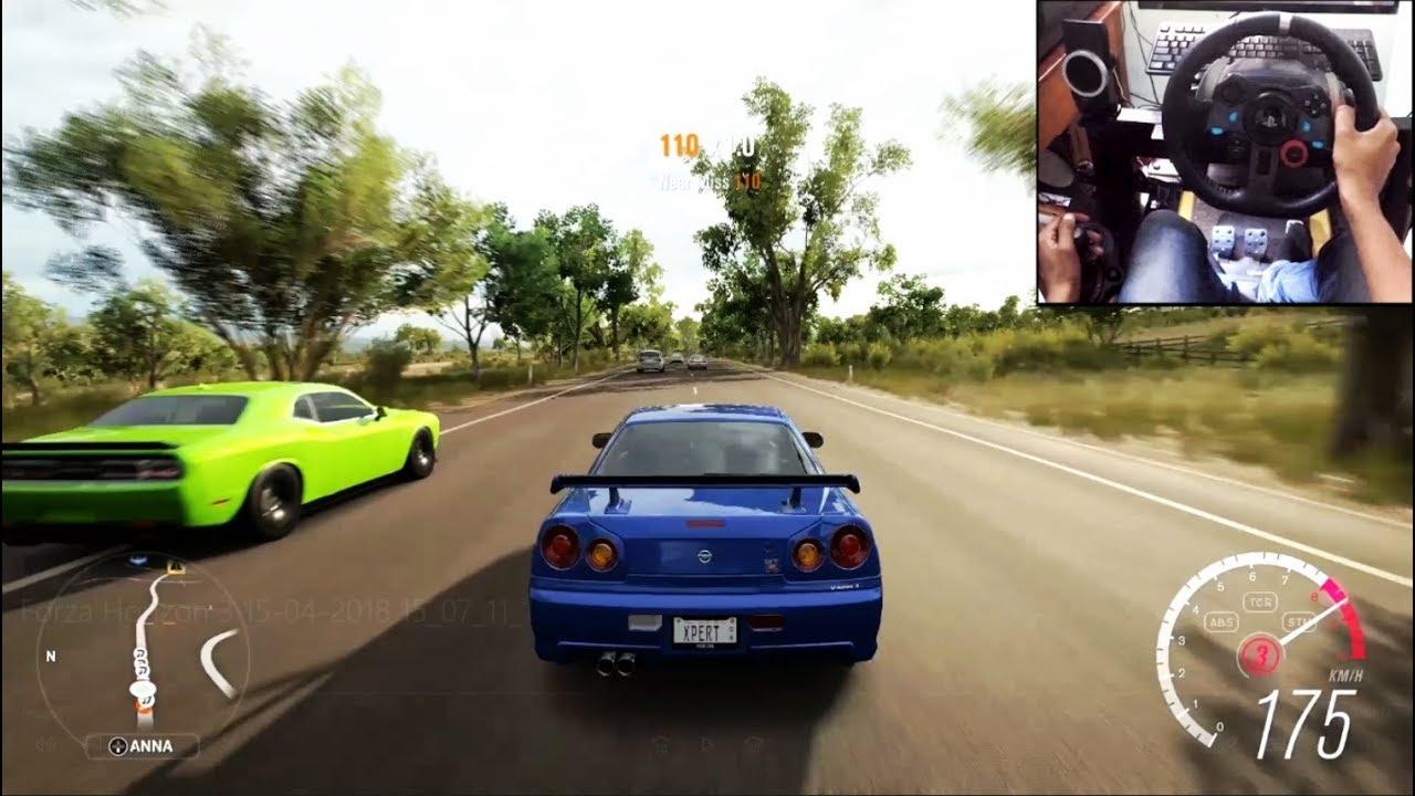 Nissan Skyline R34 - Forza Horizon 3 (Logitech g29) gameplay