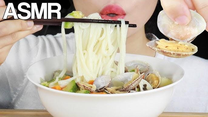 ASMR CLAM NOODLE SOUP (Bajirak Kalguksu 바지락 칼국수) EATING SOUNDS MUKBANG