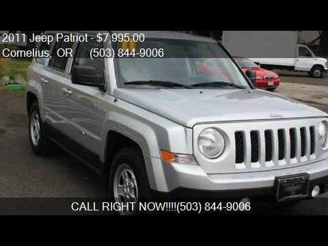 2011 jeep patriot sport 4dr suv for sale in cornelius or for Persian motors cornelius or