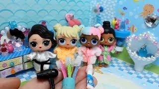 Куклы  ЛОЛ  и ВАННАЯ КОМНАТА. Как сделать зубную щётку и фен для кукол LOL SURPRISE своими руками.