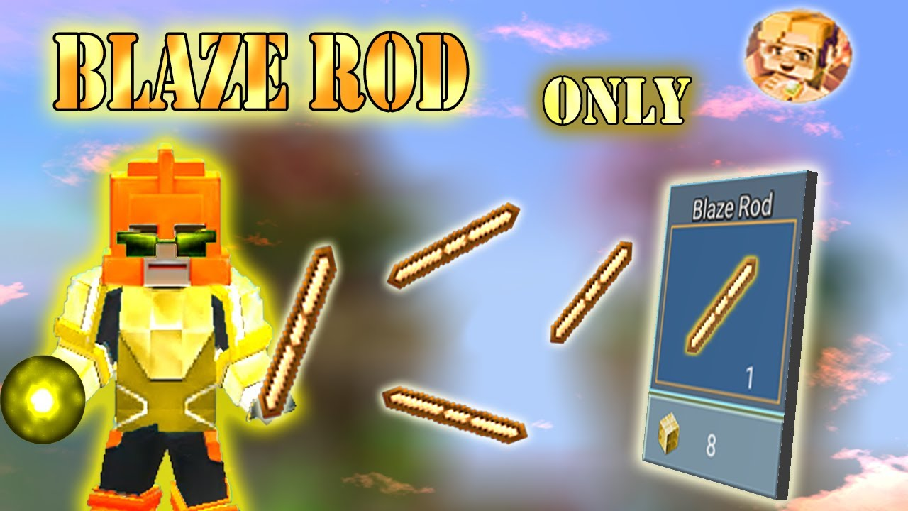 Download BLAZE ROD Only Challenge In Bed wars | Blockaman Go Gameplay (Android , iOS)