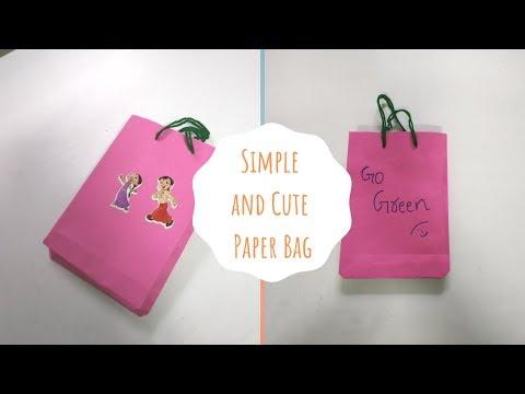 DIY | Easy way of making paper bag | Cute paper bag | Gift bag
