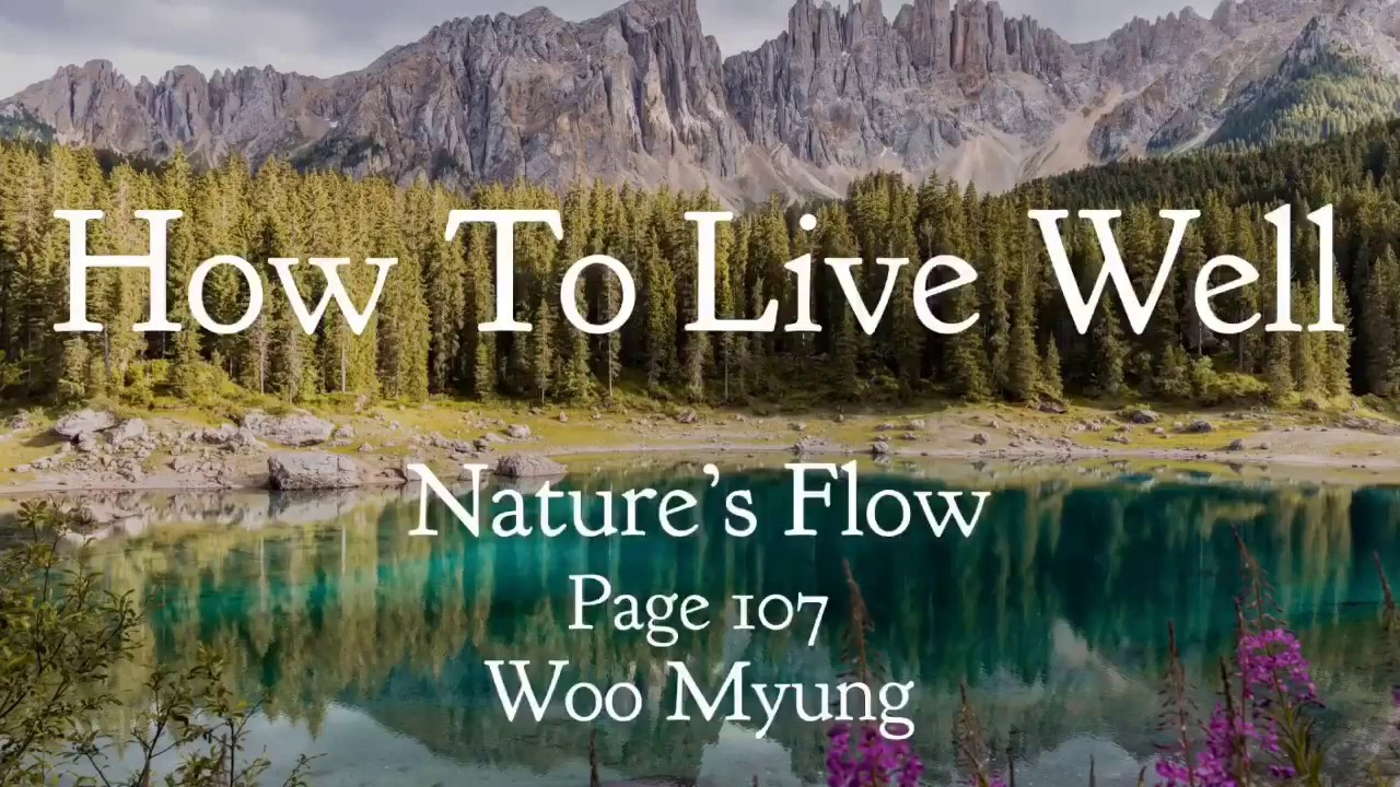 Writing of Woo Myung - How To Live Well