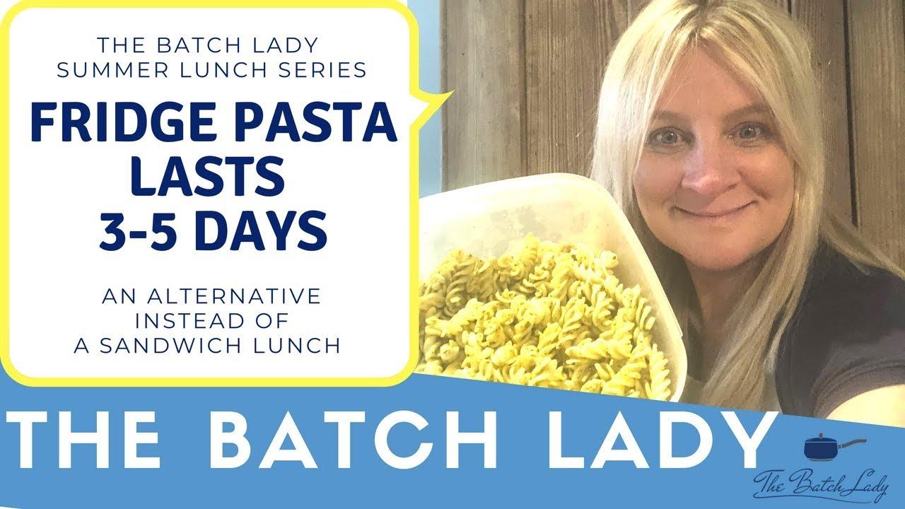 Fridge Pasta lasts 3-5 days