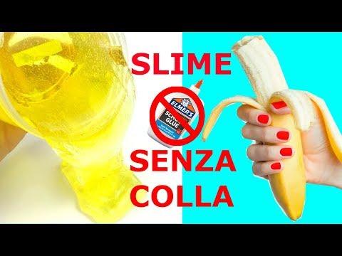 5 SLIME SENZA COLLA! SLIME CON UNA BANANA?! iolanda sweets