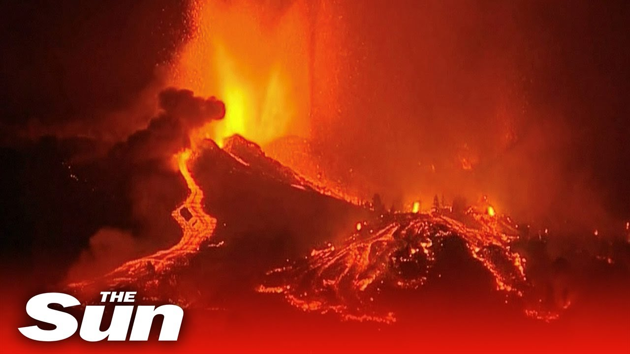 Download Live: Lava spews from volcano on Spain's La Palma island as thousands flee