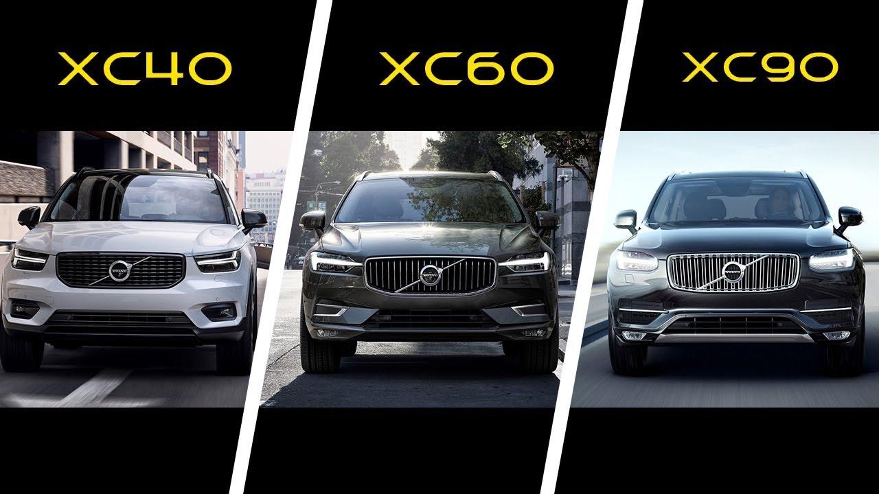 2018 Volvo Xc40 Vs 2018 Volvo Xc60 Vs 2017 Volvo Xc90