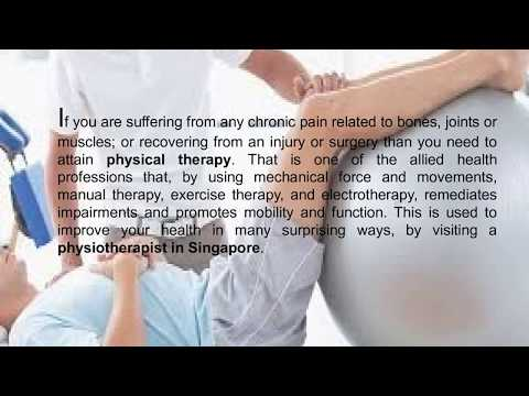 Symptoms where visiting a physiotherapist in Singapore is