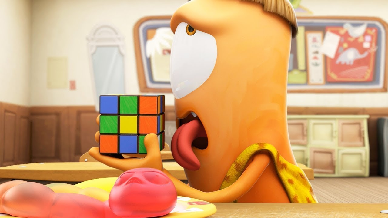 Funny Animated Cartoon | Spookiz | Kebi Licked a Rubiks Cube!! | 스푸키즈 | Cartoon For Children