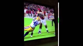 Jake Coker Running Over LSU Defense ~ 2015
