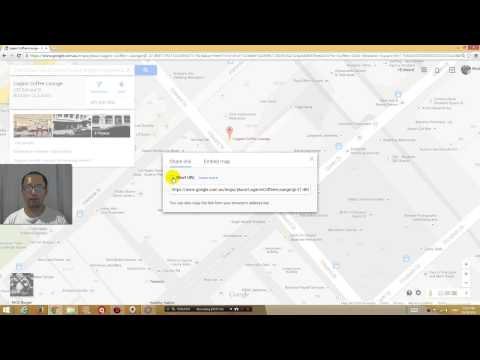 How to send google map location via email