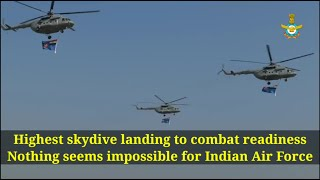 Highest skydive landing to combat readiness: Nothing's impossible for IAF