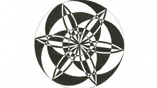 geometric easy draw mandala tutorial crazy