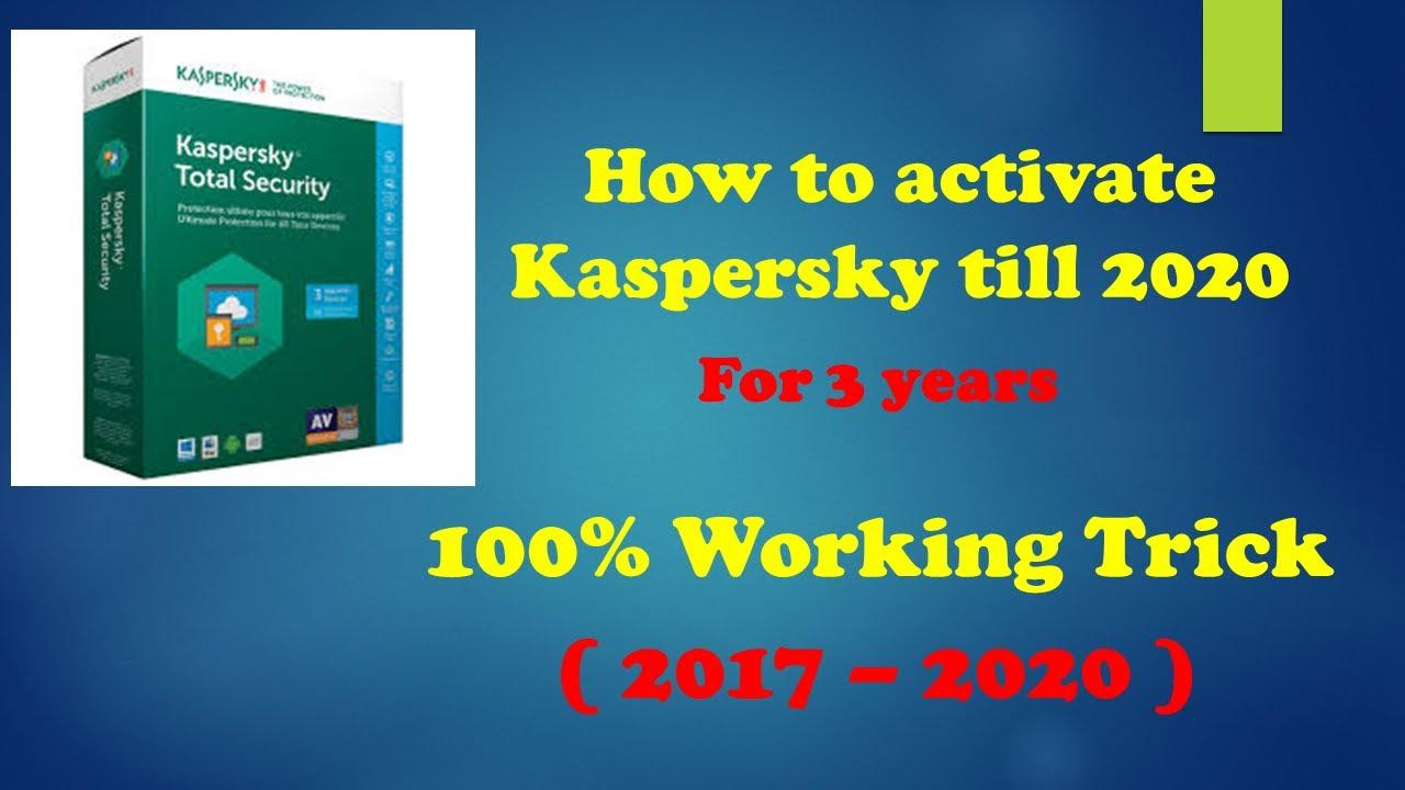 activate kaspersky antivirus 2018 license key till 2020