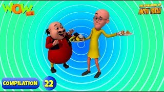Motu Patlu 6 episodes in 1 hour | 3D Animation for kids | #22
