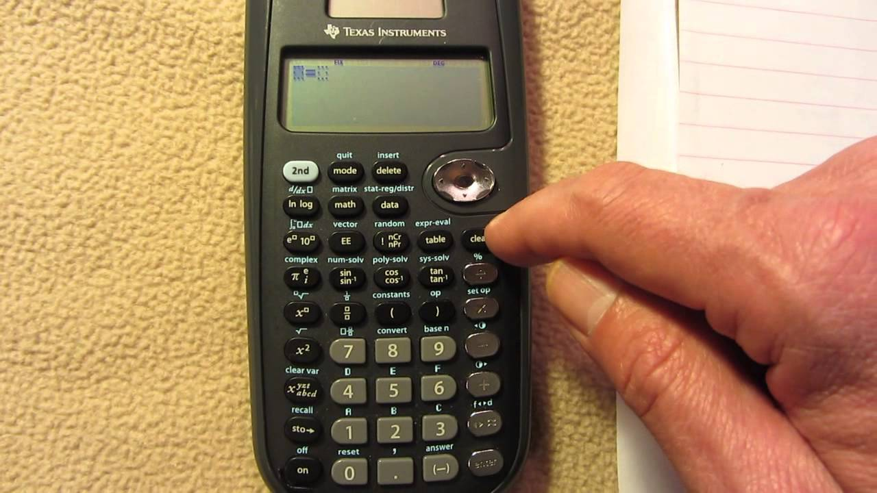 TI-36X Pro Solve for X mode, 2014-05-03