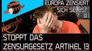 Europa zensiert sich selbst. Petition gegen Artikel 13 Leistungsschutzrecht/Urheberrecht | DasMonty
