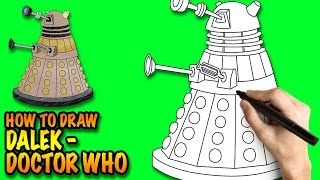 How to draw Dalek - Doctor Who - Easy step-by-step drawing lessons for kids