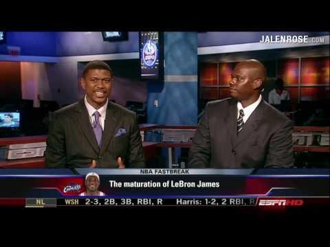 Maturation of LeBron James - Jalen Rose and Jamal Mashburn on ESPN NBA Fastbreak 5/16/09