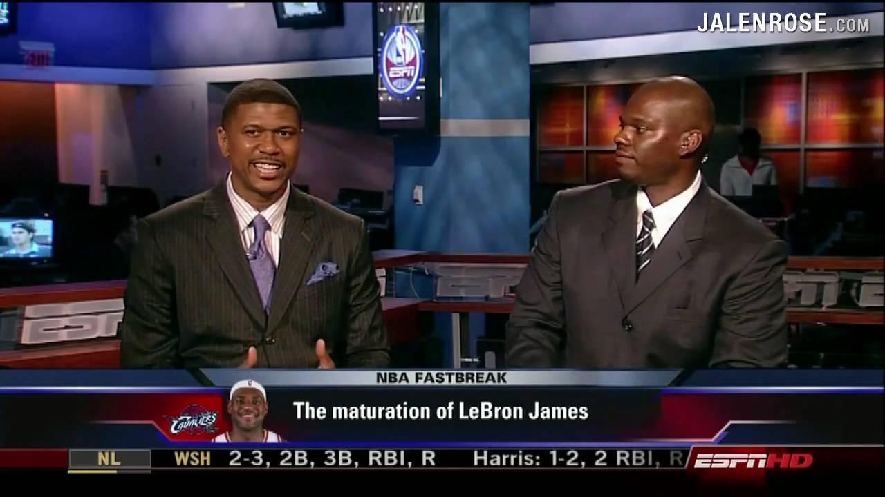 Maturation of LeBron James Jalen Rose and Jamal Mashburn on ESPN