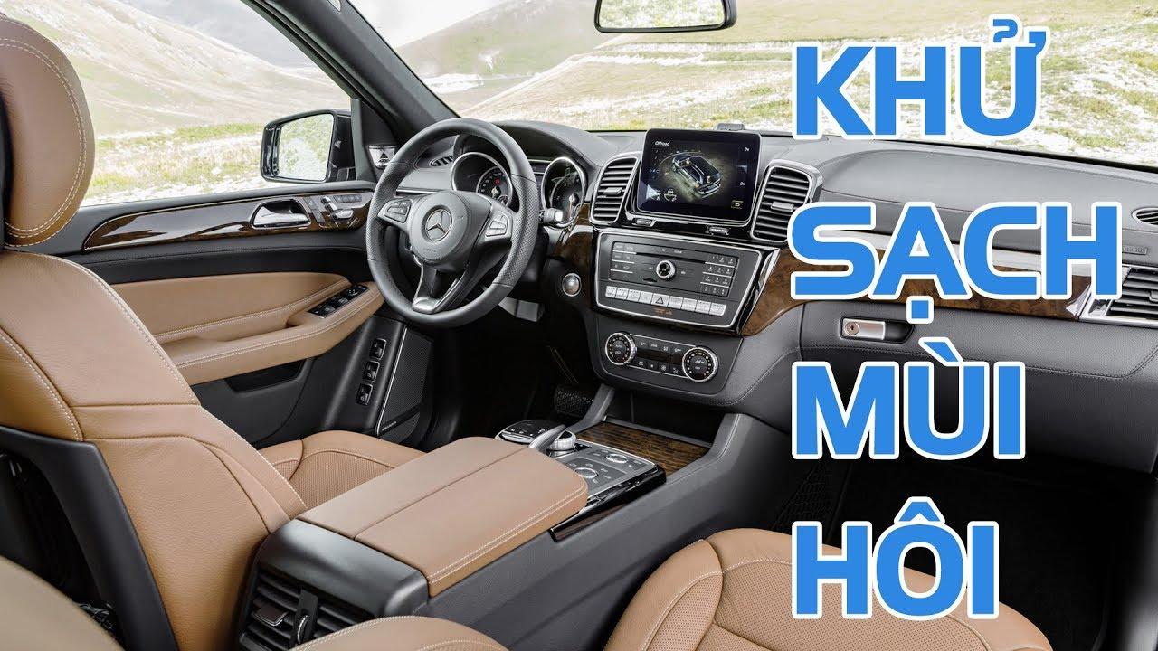 Cách khử sạch mùi hôi khó chịu trong xe ôtô