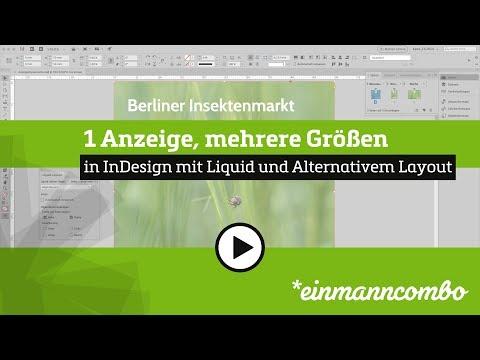 Unterschiedliche Anzeigengrößen Mit Liquid Alternativem