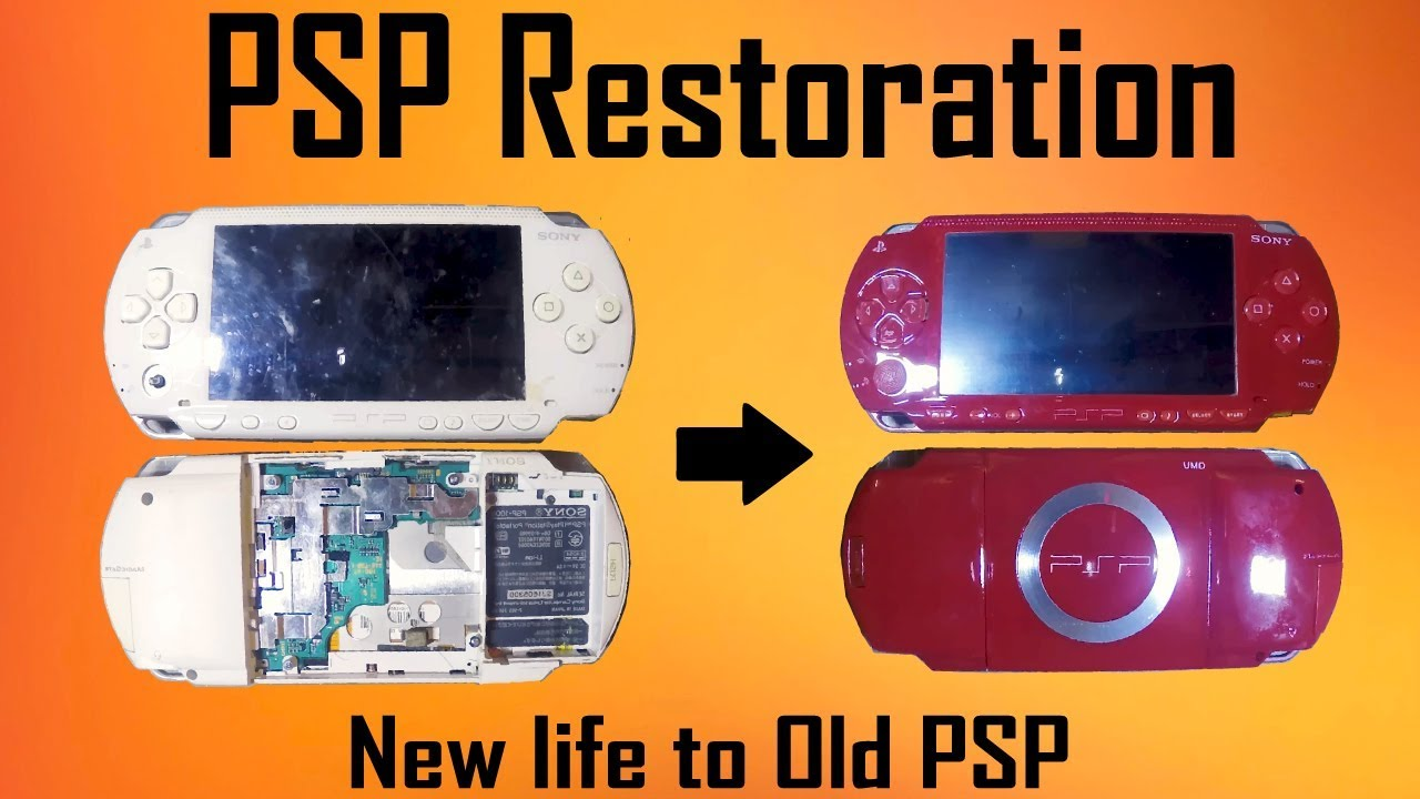 PSP Restoration , I got it for 2$ | MakerMan