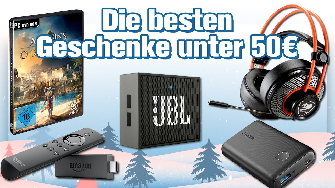 die 7 besten technik geschenke unter 50 euro weihnachten 2017 geschenke tipps youtube. Black Bedroom Furniture Sets. Home Design Ideas