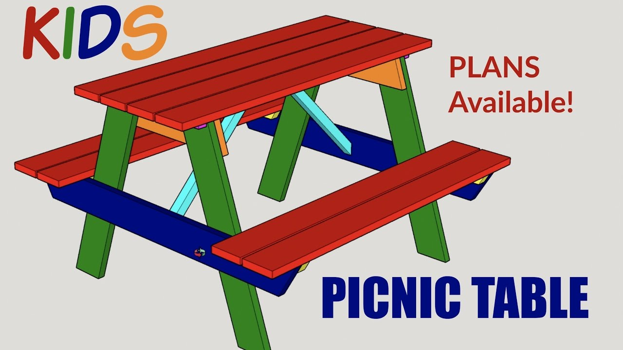 Kids picnic table - Kids Picnic Table Woodworking Project With Plans