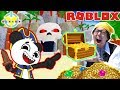 Roblox Escape Treasure Island with Ryan's Daddy and Combo! WE FOUND TREASURE CHEST IN REAL LIFE!