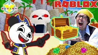 Roblox escape Treasure Island com Ryan ' s Daddy e Combo! ENCONTRAMOS BAÚ DO TESOURO NA VIDA REAL!