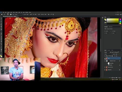 DSLR Camera Wedding Photo  Editing  In  Adobe Photoshop CC 2019 Photovision