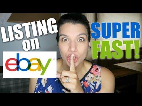 How I List On EBay Start To Finish! SUPER FAST METHOD!