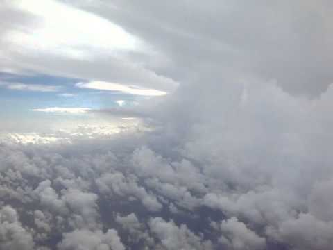 Dodging storm clouds above Honiara & Guadalcanal