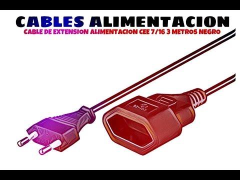 Video de Cable de extension alimentacion CEE 7/16 3 M Negro