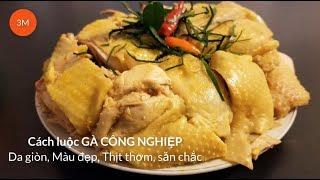 Cách LUỘC GÀ CÔNG NGHIỆP Da giòn, Màu đẹp, Thịt săn chắc-by Mon ngon Ho Guom