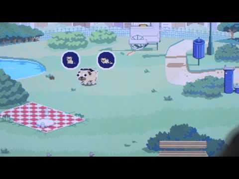 A video game about a cute pug that sniffs another cute pug's butt