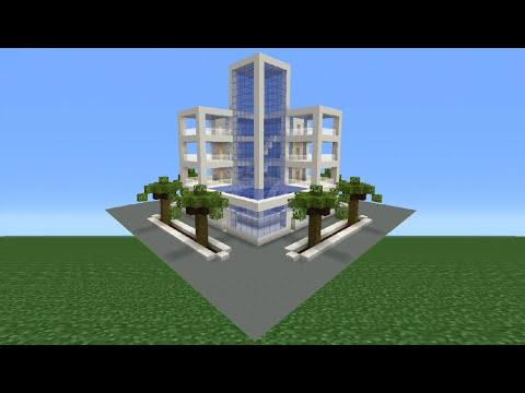 Minecraft Tutorial: How To Make A Modern Hotel