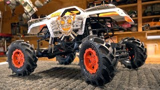 THESE TIRES KICK BUTT MONSTER MUD 2 6 FLING KINGS MAX D TRUCK BUILD AXIAL SMT10 RC ADVENTURES