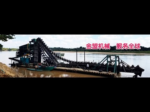 200CBM per hour big capacity gold mining dredger working in Indonesia