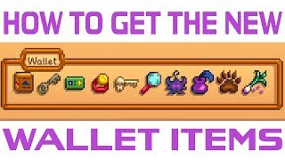 How to Get the New Wallet Items in Stardew Valley 1.3
