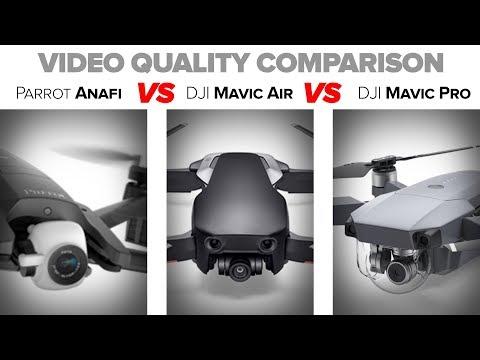 Parrot Anafi - Video Quality Comparison Test vs Mavic Air vs