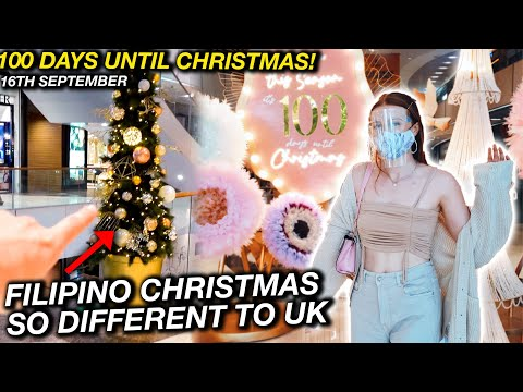 EARLY FILIPINO CHRISTMAS in Manila Malls! This is Much CRAZIER Than UK!