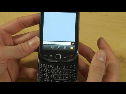 BlackBerry Torch 9800 Test Bedienung