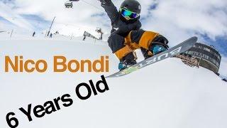 Nico Bondi, AMAZING 6 year-old Snowboarder  (Learning By Doing Ep 52)